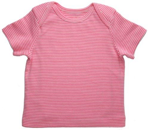 Funkoos Pink Pinstripe Baby Girl Short Sleeve T Shirts 9