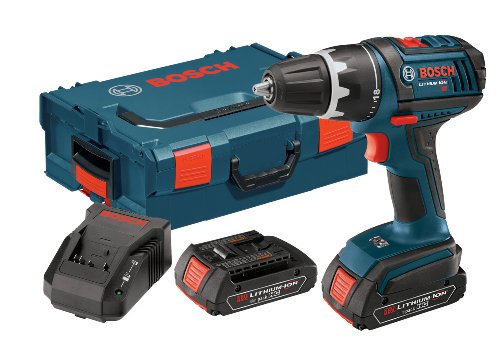 Bosch DDS181-02L 18-volt Lithium-Ion 1/2-Inch Compact Tough Drill/Driver Kit with 2 High Capacity Batteries, Charger and L-BOXX2 (Bosch 18v Drill compare prices)