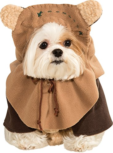 [UHC Star Wars Ewok Outfit Funny Theme Fancy Dress Halloween Pet Dog Costume, XL] (Star Wars Dog Costumes Ewok)