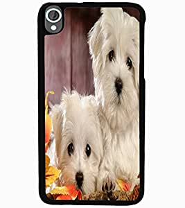 ColourCraft Cute Puppies Design Back Case Cover for HTC DESIRE 820
