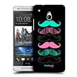 Head Case Pink And Blue Moustache Protective Back Case Cover For Htc One Mini