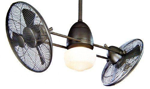 Minka aire f402 orb one light oil rubbed bronze dual motor for Dual motor ceiling fan