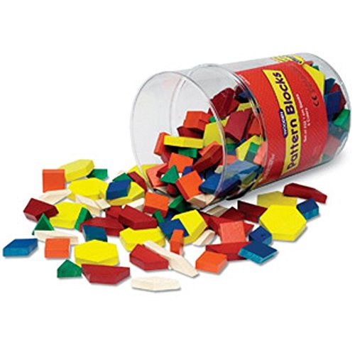 New Learning Resources Wooden Pattern Blocks
