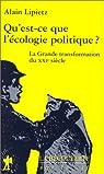 Qu est ce que l écologie politique par Lipietz