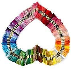 Soledi Cross Stitch Floss 100 Skeins Premium Rainbow Color Embroidery Floss Sewing Threads