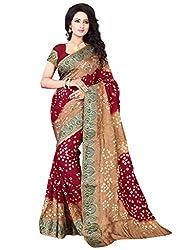 Mahek Fashion Hub Women's Cotton Silk Saree (MMAHE79621383500_Multicolour)