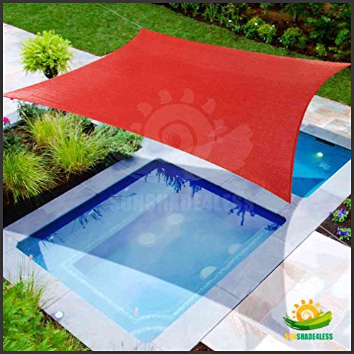 20'x16' Sun Shade Sail Uv Top Outdoor Canopy Patio Lawn Rectangle Rust Red