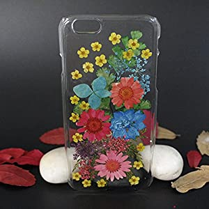 Beautiful Real Flowers Clear Slim Unique Design Phone Case for iPhone 6(3)