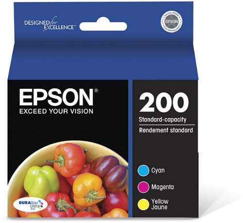 Epson T200520 OEM Ink - (200) Home XP-400 200 WorkForce WF-2530 WF-2540 DURABrite Ultra Ink Combo Pack (Includes 1 Each of OEM# T200220 T200320 T200420)