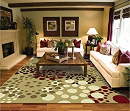Luxutry Modern Rugs for Living Dining Room Tan Beige Red Cream Brown Rug 2x7 Runners Contemporary Rugs Indoor Area Rugs 2x8 Runner Rug