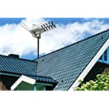 Outdoor Amplified Antenna, 1PLUS HDTV Antenna Outdoor 150 Miles Range, 360°Rotation Outdoor TV Antenna with Wireless Remote for Roof High Crystal Performance