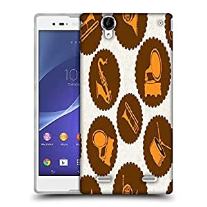 Snoogg Music Stickers Designer Protective Phone Back Case Cover For Sony Xperia T2 Ultra