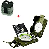 Denshine Military Army Floating Compass Rotary Dial With 360˚ Scale Sighting Inclinometer Great for Hunting Hiking Geology and Other Outdoor Activities With one Frog Light