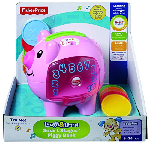 Fisher price laugh and learn count and learn piggy bank from fisher price minnie mouse fisher - Counting piggy bank ...