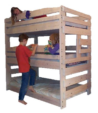 Triple Bunk Bed Woodworking Plans