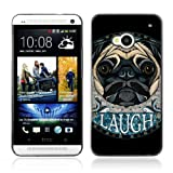Case699 Phone Accessory / Awesome Pug Dog Art Tattoo / Hard Protective Case Cover for HTC One M7 2013
