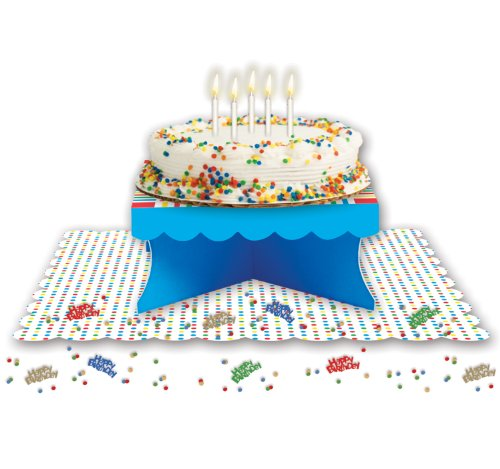 Creative Converting Presentation Station Small Cake Party Kit, Birthday Boy - 1