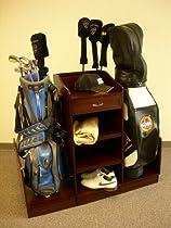 Golf Bag Caddie in Medium Walnut Finish