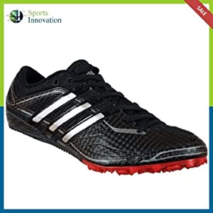 Adidas Sprint Star Mens M Black Track Shoes Spikes Size