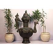 Handmade Vintage Pot 25.25 X 28.5 Inches Garden Bronze And Copper Planter Outdoor Indoor IndianShelf Online