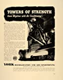 1941 Ad York Air Conditioning Steel Mill Blast Furnace - Original Print Ad