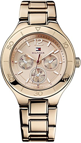 Tommy Hilfiger Women's 1781333 Sport Luxury Multi-Eye Rose-Gold Bracelet Watch