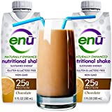 ENU protein shake / meal replacement drink. Tastes great! ($3 coupon on this page) 25g quality protein & 480 calories ensure muscle mass & maintains orgain weight. Naturally sweetened. Non-GMO. Gluten free. Ready to drink (12-pack / Chocolate)