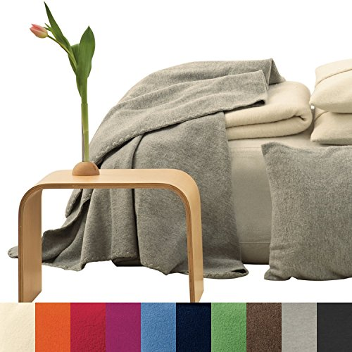 "Disana 100% Merino Boiled Wool Blanket 55x80"" Made in Germany - 1"