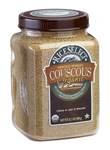 RiceSelect Organic Whole Wheat Couscous, 31.7-Ounce Jars (Pack of 4)