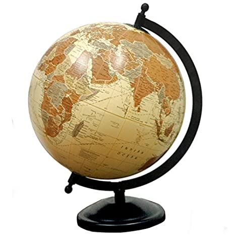 Antique Style Brown Color World Globe at amazon