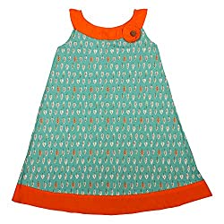 Apricot Kids Sea Green Frock For Girls- 6-7 Years