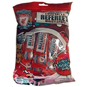 Sports Candy Liverpool Fc Referees Strawberry Flavour Whistlepops Bag 180 G from SPOWC
