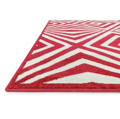 Loloi Rugs Catalina Collection Indoor Outdoor Area Rug, 9-Feet 2-Inch by 12-Feet 1-Inch, Red/Ivory