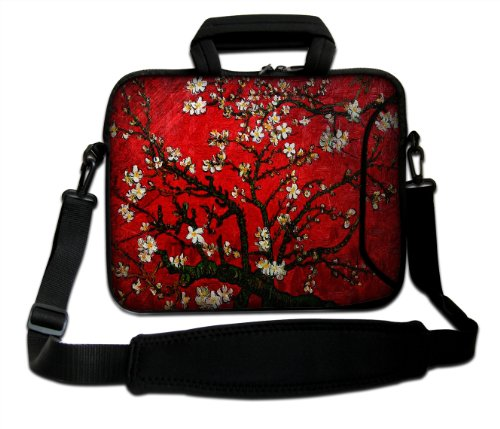 "17"" 17.3"" 17.4"" Inch Neoprene Notebook Laptop Soft Bag Sleeve Case Cover Pouch With Adjustable Shoulder Strap For Apple Macbook Pro 17 /Hp Envy 17 Series/ Pavilion Dv7/Dv7T/G72/G72T/G7T/M7 Series / Dell Inspiron 17 17R I17Rm I17Rv Xps 17 Series/Asus Rog G front-592628"
