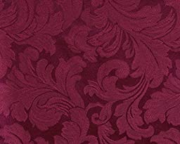 Sure Fit Scroll 1-Piece - Sofa Slipcover  - Burgundy (SF24990)