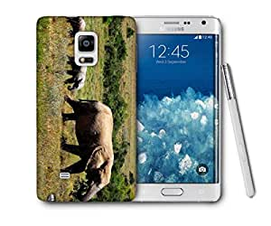 Snoogg Elephant Walking In Water Printed Protective Phone Back Case Cover For Samsung Galaxy NOTE EDGE