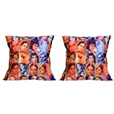 MeSleep Digitally Printed Bombay Collage 2 Piece Cushion Cover Set - Multicolor (16CDBLC-95-02)