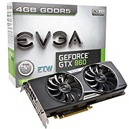 EVGA GeForce GTX 960 4GB FTW GAMING ACX 2.0+, Whisper Silent Cooling w/ Free Installed Backplate Graphics Card 04G-P4-3969-KR