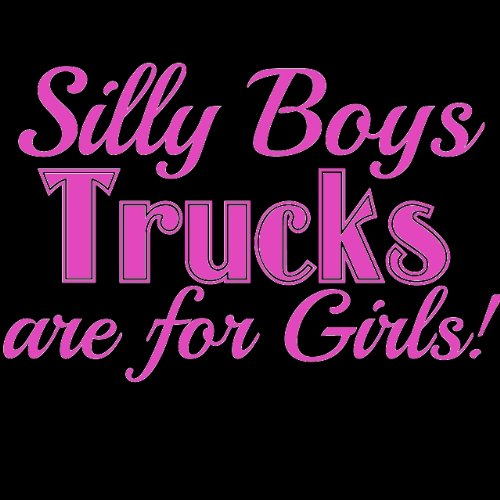 Silly Boys Diesels are for girls fun sticker truck WHITE Vinyl Decal