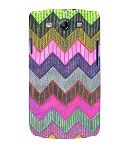Zig Zag Pattern 3D Hard Polycarbonate Designer Back Case Cover for Samsung Galaxy S3 :: Samsung Galaxy S3 i9300