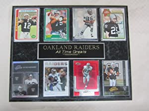 Oakland Raiders NFL ALL TIME GREATS 8 Card Plaque by J & C Baseball Clubhouse