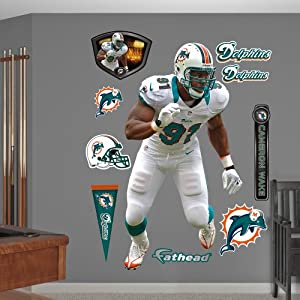 NFL Miami Dolphins Cameron Wake Away Wall Graphics by Fathead