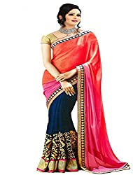 Pari Fashion Georgette Saree (New kaka_Orange)