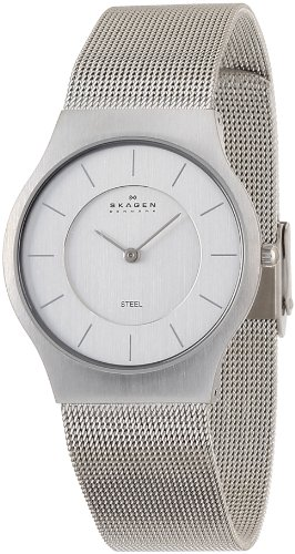 SKAGEN 腕時計 basic steel mens 233LSS ケース幅: 34mm Ultra Slim メンズ