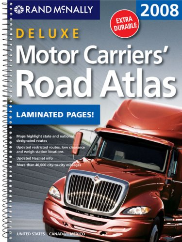 Rand Mcnally 2008 Deluxe Motor Carriers Road Atlas (Rand Mcnally Motor Carriers' Road Atlas Deluxe Edition) front-1056430