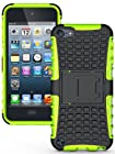 NAKEDCELLPHONE NEON LIME GREEN GRENADE TPU SKIN HARD CASE COVER STAND FOR APPLE iPOD TOUCH 5 5th GENERATION (16GB 32GB 64GB)