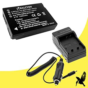 Halcyon 1200 mAH Lithium Ion Replacement Battery and Charger Kit for Panasonic Lumix DMC-ZS6 12.1 MP Digital Camera and Panasonic DMW-BCG10