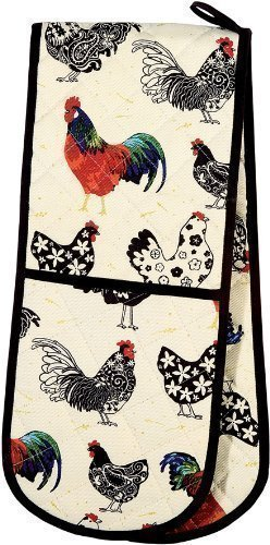 floral-roosters-red-black-cream-cotton-kitchen-double-oven-glove
