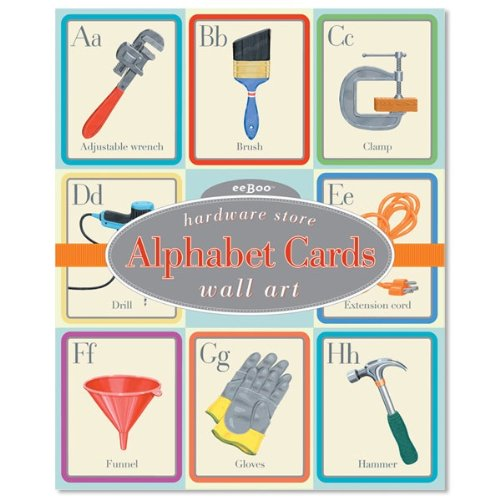 eeBoo Hardware Store Alphabet Wall Cards - 1