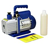 Zeny® 3,5CFM Single-Stage 5 Pa Rotary Vane Vacuum Pump 3 CFM 1/4HP HVAC Air tool R410a R134, blue (#01)